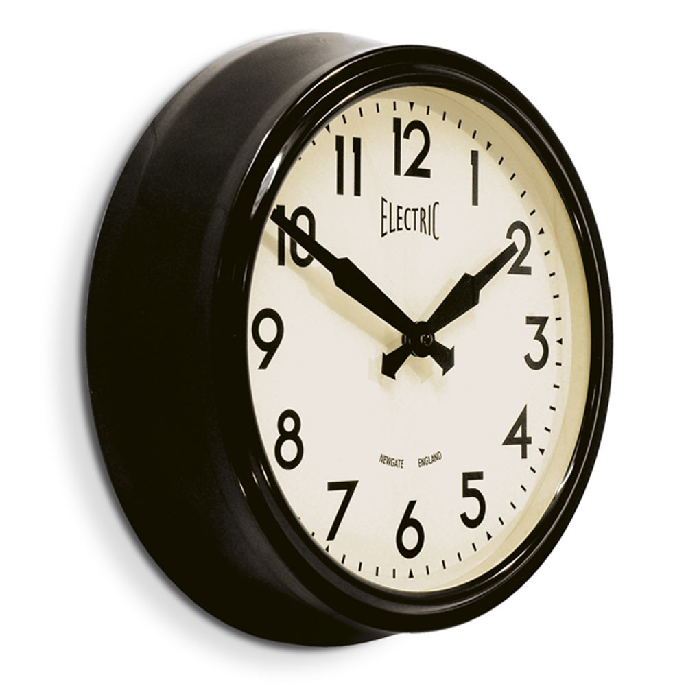 50-s-electric-clock-black